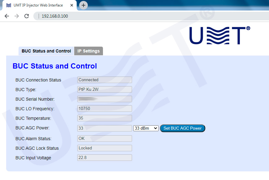 Dc injector idci with ip ctrl (interface) umt llc