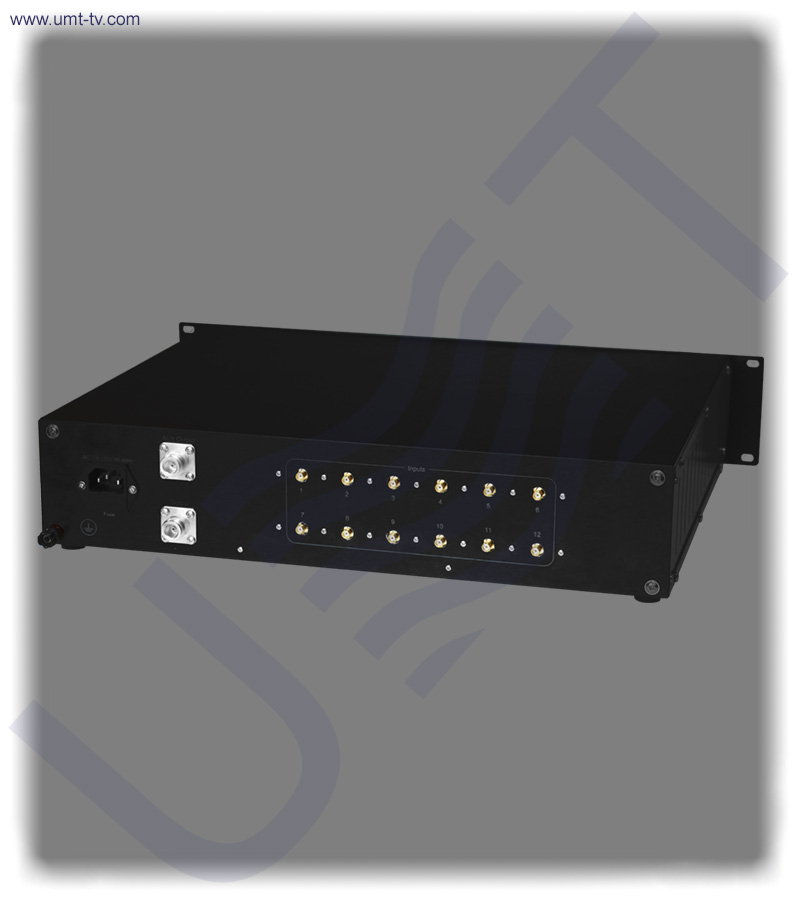 12 channel l band combiner equalizer   rear view   umt