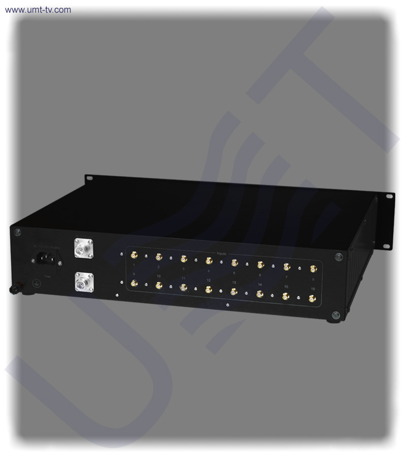 16 channel l band combiner equalizer   rear view   umt