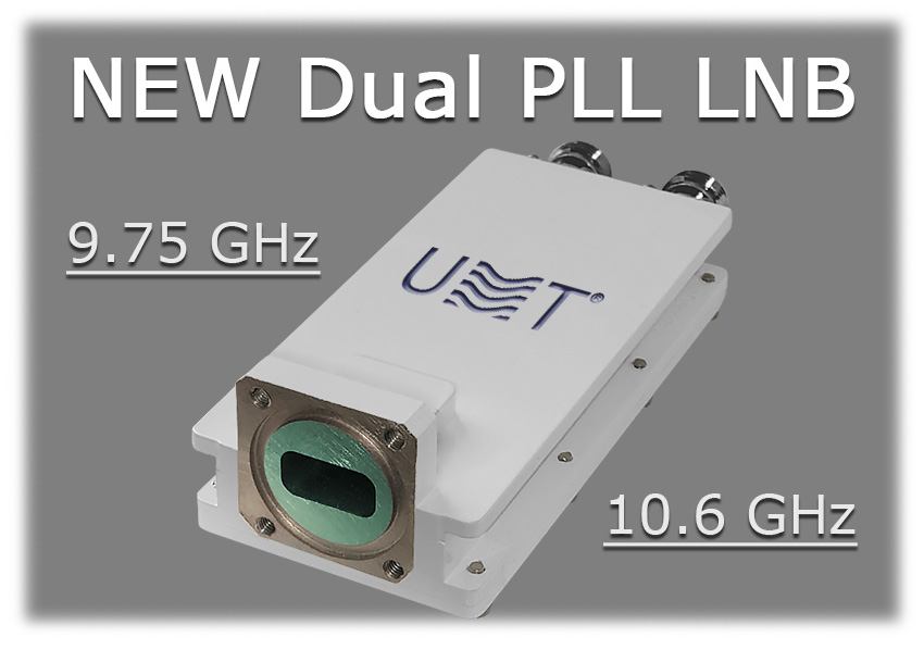 New dual pll lnb 9.75 10.6 ghz from umt llc