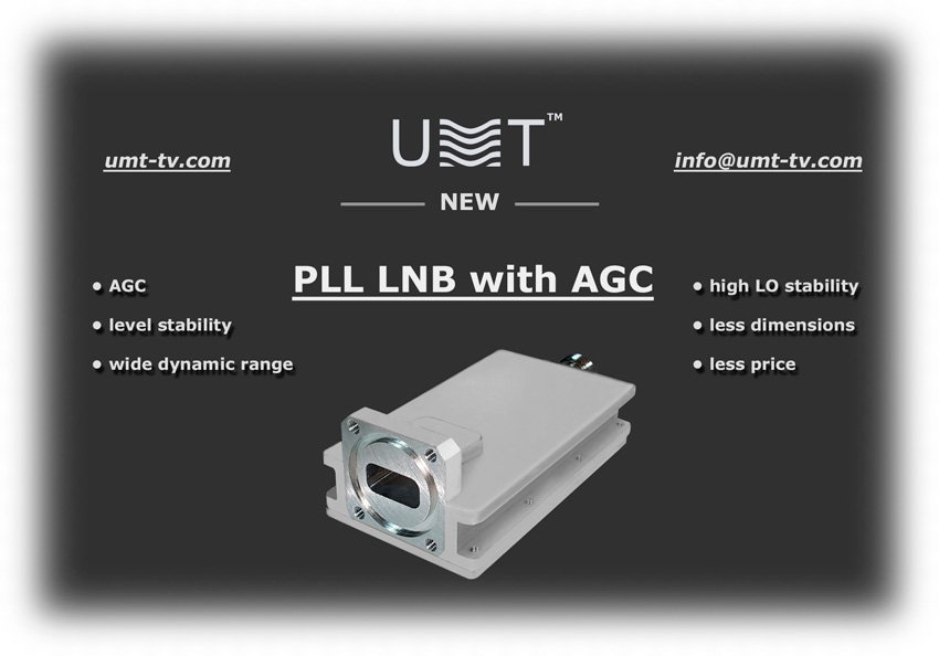 New lnb pll with agc umt llc