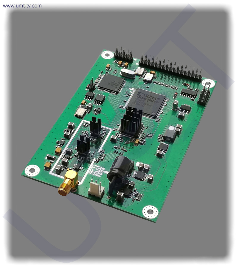 Dvb s s2 t l band modulator board umt llc